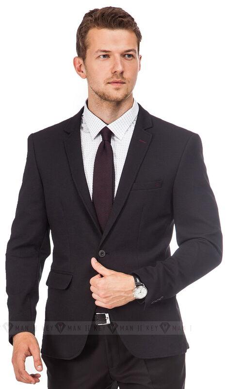 Пиджак, жакет, жилетка мужские Keyman Пиджак мужской черный трикотажный - фото 1
