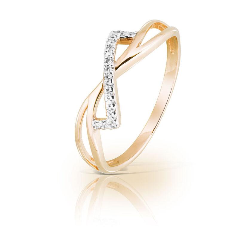 Ювелирный салон Jeweller Karat Кольцо золотое с бриллиантами арт. 1214465 - фото 1