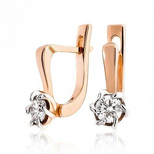 Ювелирный салон Jeweller Karat Серьги золотые с бриллиантами арт. 1224593 - фото 1