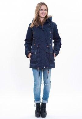 Спортивная одежда Free Flight Парка женская зимняя удлинённая модель №1458 синяя - фото 2