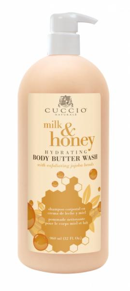 Уход за телом Cuccio Naturale Масло для мытья тела «Мёд с молоком», 960 мл - фото 1