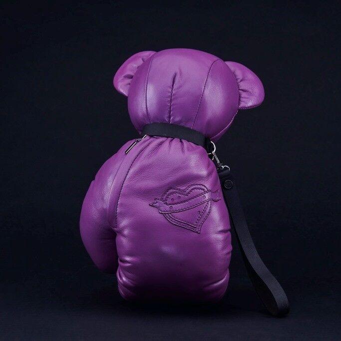 Магазин сумок IVAN AIPLATOV Сувенир-клатч Teddy Bear, фиолетовый - фото 2