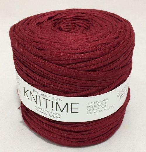 Товар для рукоделия Knit!Me Ленточная пряжа Sweetheart Jersey - Брусничный морс (SJ095) - фото 1