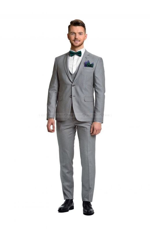 Костюм мужской Keyman Костюм мужской светло-серый в мелкую фактуру с жилетом (тройка) - фото 2