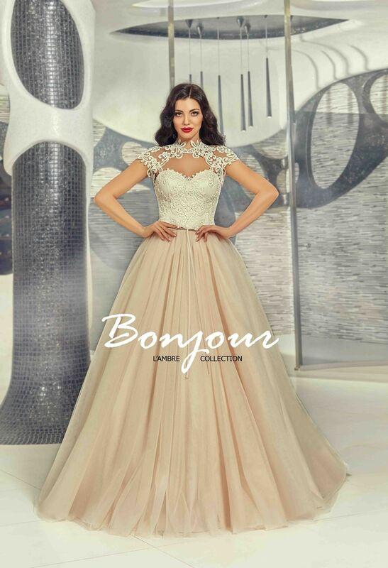 Свадебное платье напрокат Bonjour Платье свадебное «Demi» из коллекции LAMBRE 2017 - фото 4