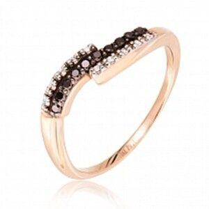 Ювелирный салон Jeweller Karat Кольцо золотое с бриллиантами арт. 1212410ч - фото 1