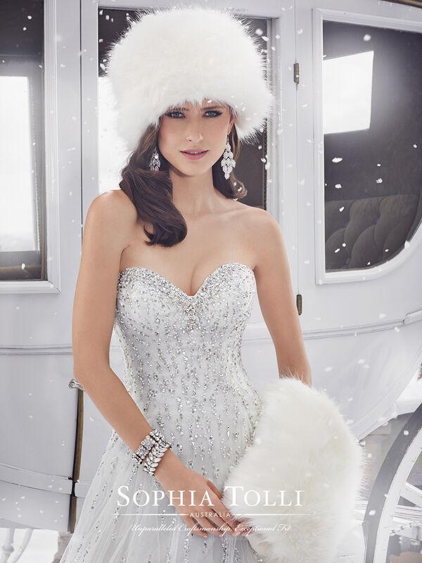 Свадебное платье напрокат Sophia Tolli Платье свадебное Y21521 Danni - фото 3
