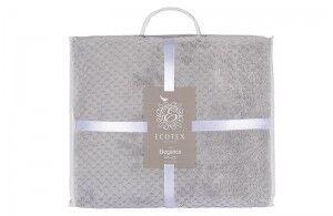 Подарок Ecotex Декоративный флисовый плед 150х200 Elegance Серый - фото 3