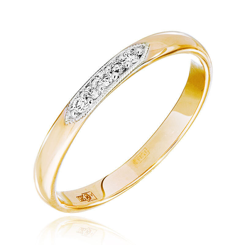 Ювелирный салон Jeweller Karat Кольцо обручальное с бриллиантами арт. 1212774 - фото 1