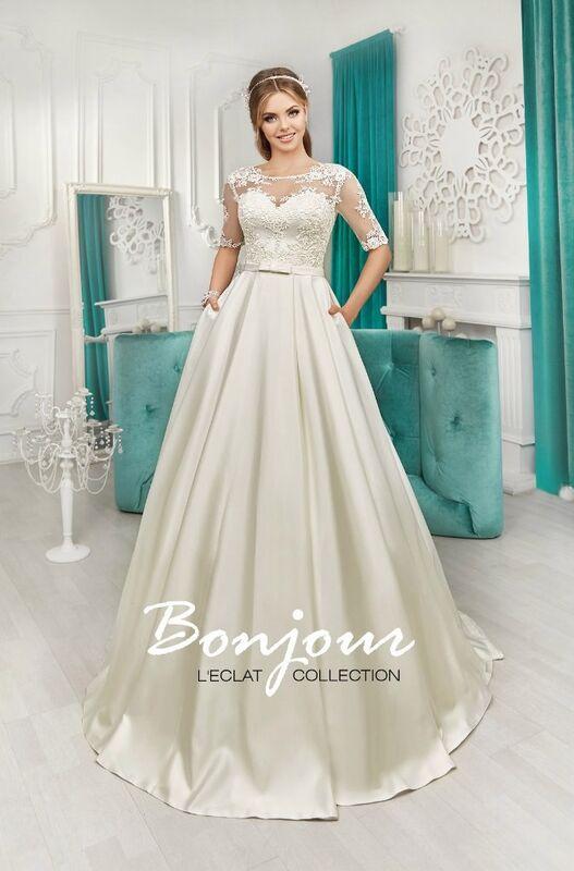 Свадебное платье напрокат Bonjour Платье свадебное «Isabelle» из коллекции L'ECLAT 2016 - фото 1