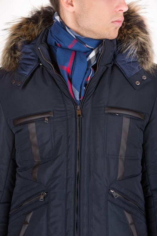 Верхняя одежда мужская HISTORIA Куртка утепленная темно-синяя с капюшоном WJ.Bld.Cri001 - фото 3