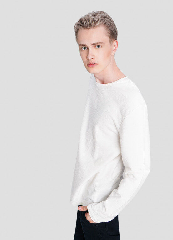 Кофта, рубашка, футболка мужская O'STIN Джемпер из текстурированного полотна MT5X36-01 - фото 2