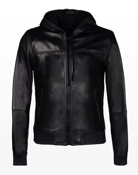 Верхняя одежда мужская Trussardi Кожаная куртка-бомбер мужская 52S02 _510070 - фото 1