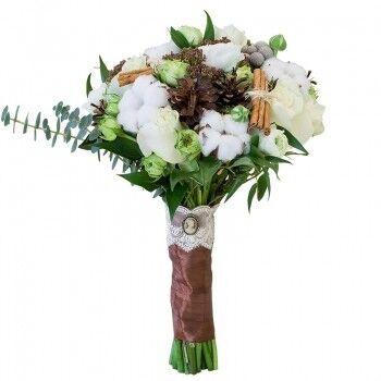 Магазин цветов Ветка сакуры Свадебный букет № 106 - фото 1