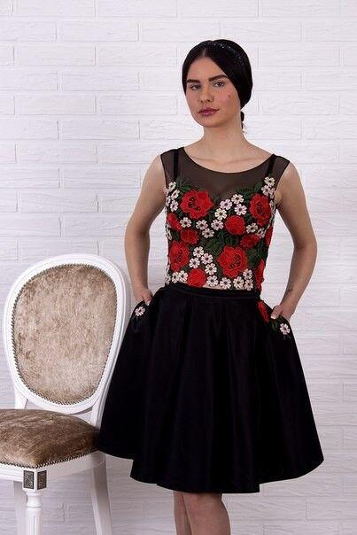 Вечернее платье Shkafpodrugi Платье комбинированное 2132 - фото 1