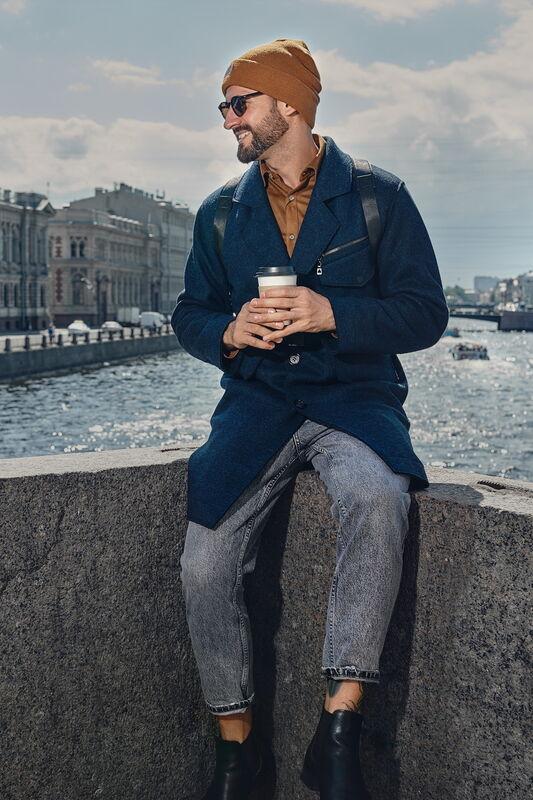 Верхняя одежда мужская Etelier Пальто мужское утепленное 6М-9524-1 - фото 3