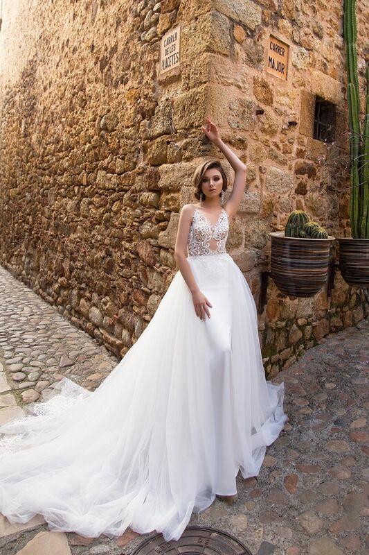 Свадебный салон Bonjour Galerie Свадебное платье «Adriana» из коллекции LA SENSUALITE - фото 4