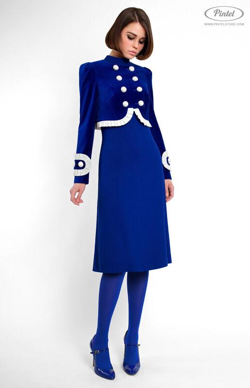 Костюм женский Pintel™ Элегантный комбинированный костюм Momö - фото 1
