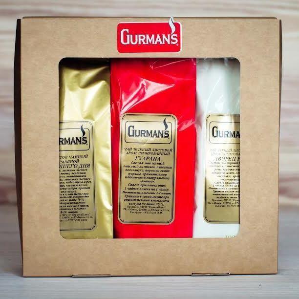 Подарок на Новый год Gurman's Набор из трёх видов чая в коробке, 3х100 гр - фото 1