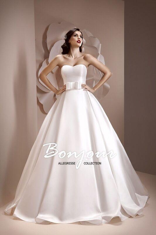 Свадебное платье напрокат Bonjour Платье свадебное «Kira» из коллекции ALLEGRESSE 2017 - фото 1