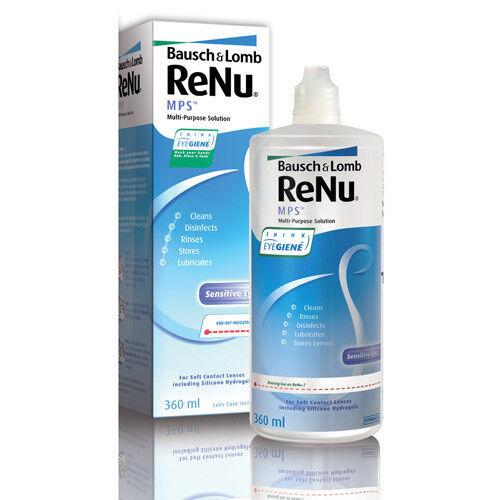Уход за линзами Bausch & Lomb Раствор для линз ReNu MPS, 360 мл - фото 1