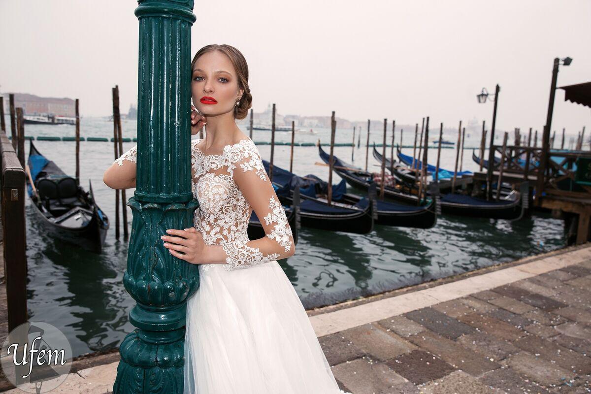 Свадебное платье напрокат Bonjour Платье свадебное «Ufem» из коллекции LE DELICE 2018 - фото 4