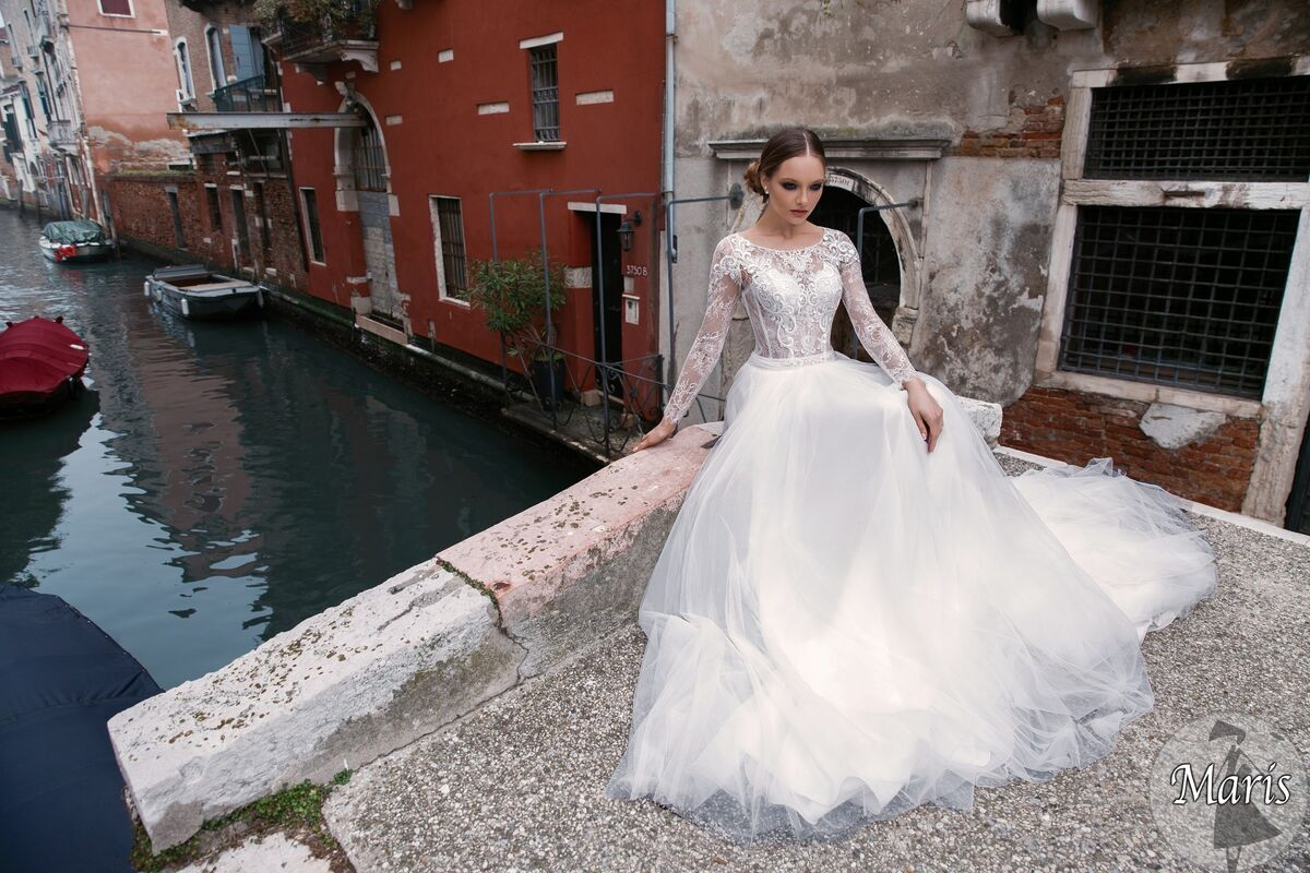 Свадебное платье напрокат Bonjour Платье свадебное «Maris» из коллекции LE DELICE 2018 - фото 5