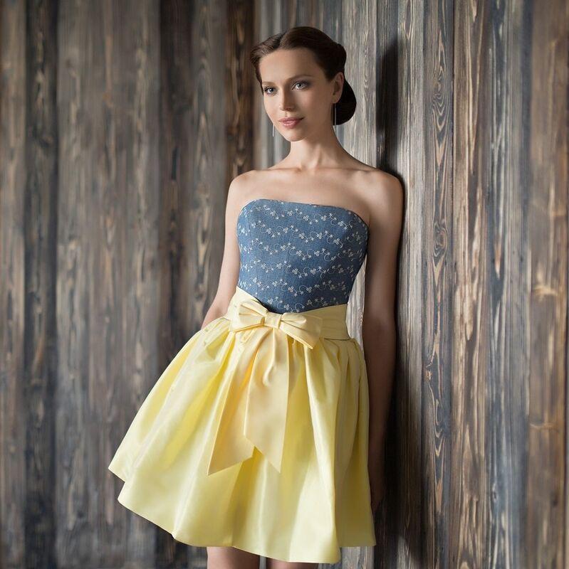 Свадебное платье напрокат Edelweis Свадебное платье «Dzintari mini» - фото 1