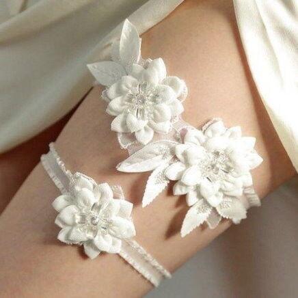 Свадебный аксессуар Bliss Свадебная подвязка Flowers 2 - фото 1