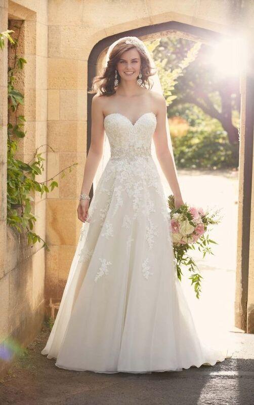 Свадебное платье напрокат Essense of Australia Платье свадебное D2000 - фото 3