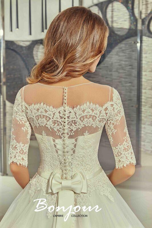 Свадебное платье напрокат Bonjour Платье свадебное «Iren» из коллекции LAMBRE 2017 - фото 4