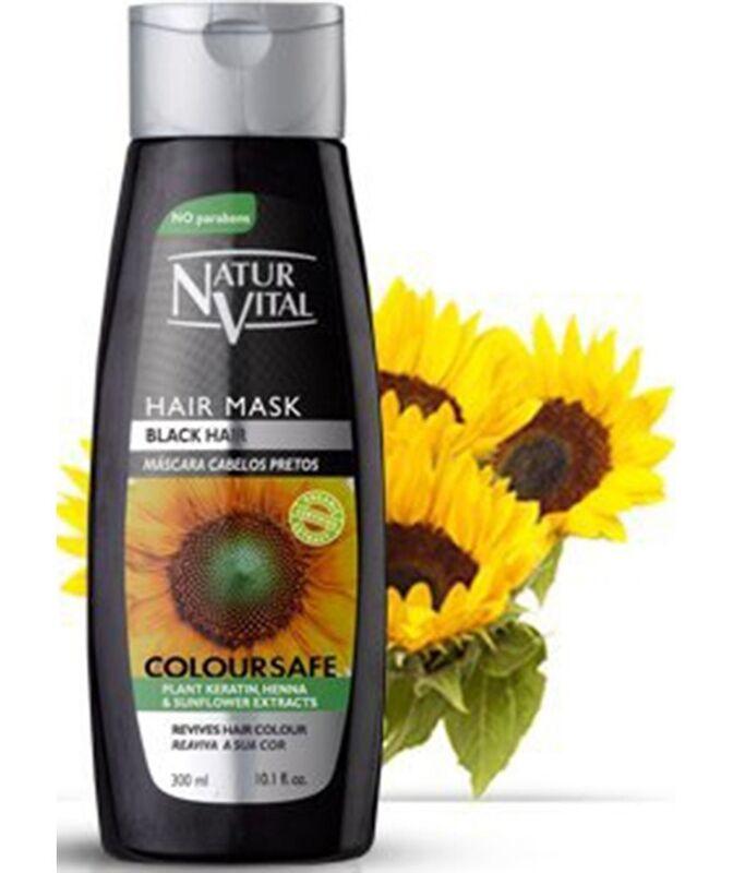 Уход за волосами Natur Vital Маска для сохранения цвета Coloursafe Hair Mask Black 300 мл - фото 1