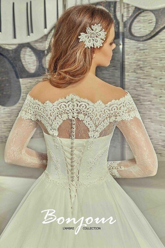 Свадебное платье напрокат Bonjour Платье свадебное «Carli» из коллекции LAMBRE 2017 - фото 4