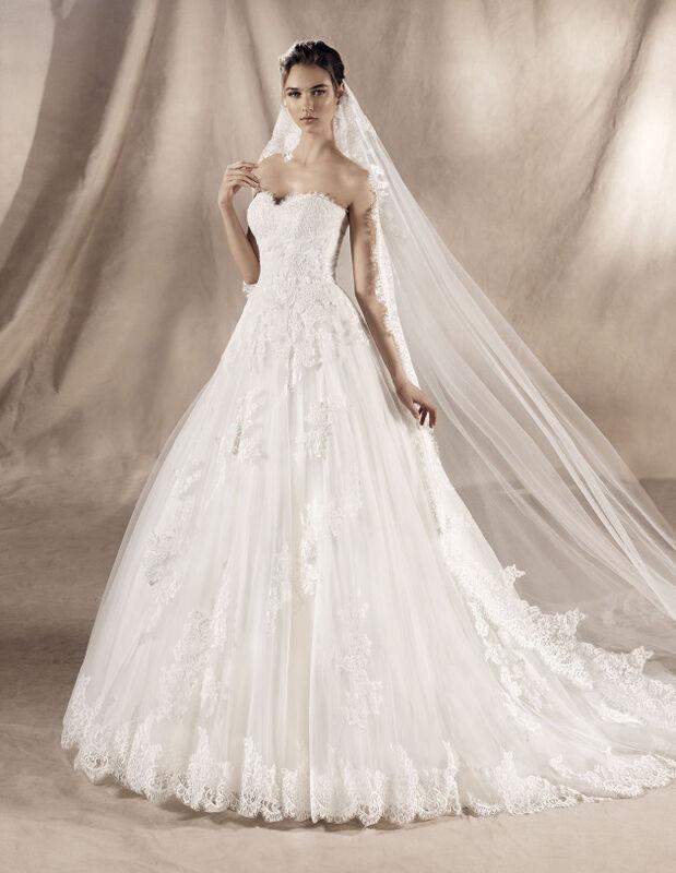 Свадебное платье напрокат White One (Pronovias) Свадебное платье Jadir - фото 2