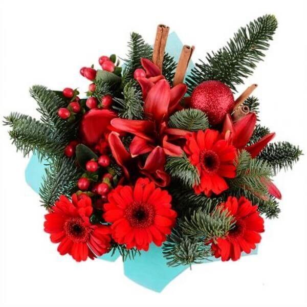 Магазин цветов Букетная Букет «Рождественское чудо» - фото 1