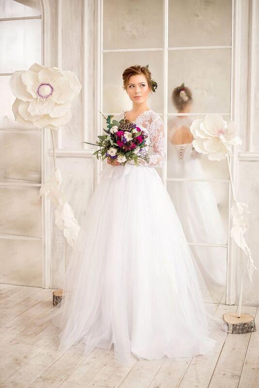 Свадебное платье напрокат ALIZA Платье свадебное «Kler» Soffito - фото 1