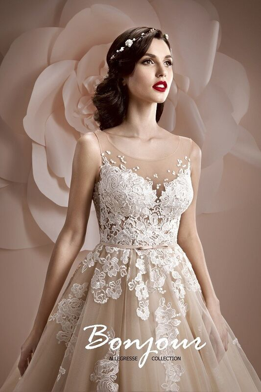 Свадебное платье напрокат Bonjour Платье свадебное «Jennifer» из коллекции ALLEGRESSE 2017 - фото 1