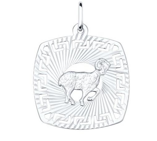 Ювелирный салон Sokolov Подвеска «Знак зодиака Овен» из серебра - фото 1