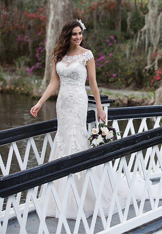 Свадебное платье напрокат Sinserity Свадебное платье 3842 - фото 4