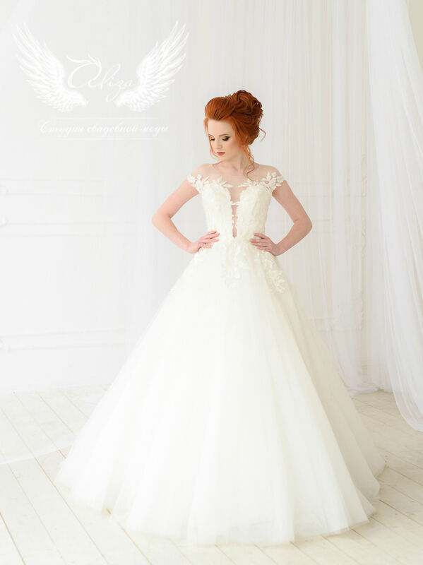 Свадебное платье напрокат ALIZA Платье свадебное «Leila» Ameli Benya - фото 1