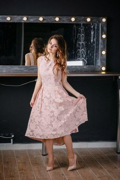 Вечернее платье Chi Chi Коктейльное платье пудрового цвета - фото 1