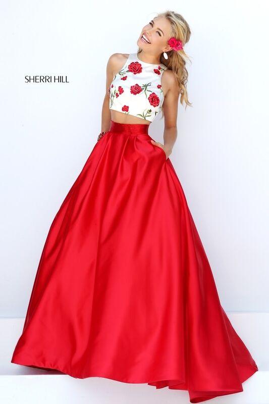 Вечернее платье Sherri Hill Кроп-топ 50232 - фото 1