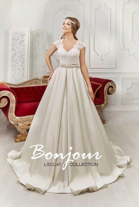 Свадебное платье напрокат Bonjour Платье свадебное «Gloria» из коллекции L'ECLAT 2016 - фото 1