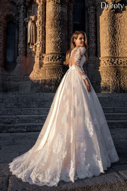 Свадебное платье напрокат Bonjour Платье свадебное «Doroty» из коллекции LA POESIE 2017 - фото 3
