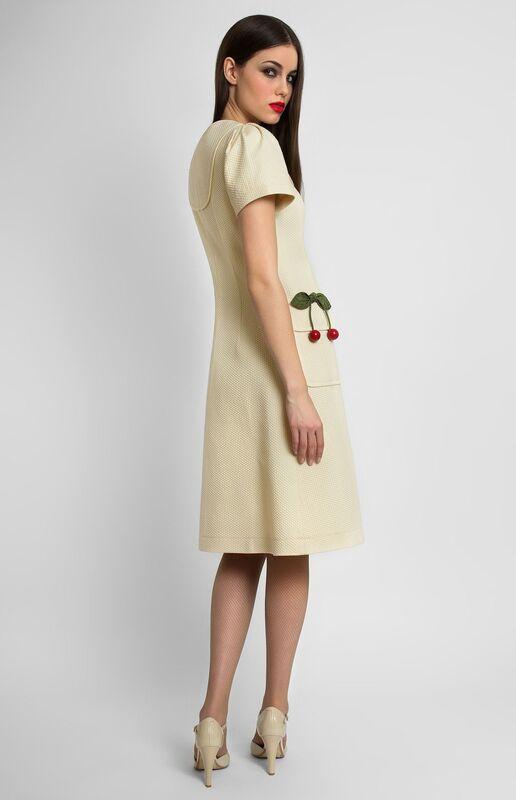 Платье женское Pintel™ Платье А-силуэта из фактурного эластичного хлопка Florence - фото 1