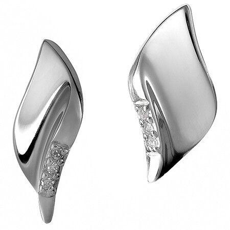 Ювелирный салон Hot Diamonds Серьги серебряные DE184 - фото 1