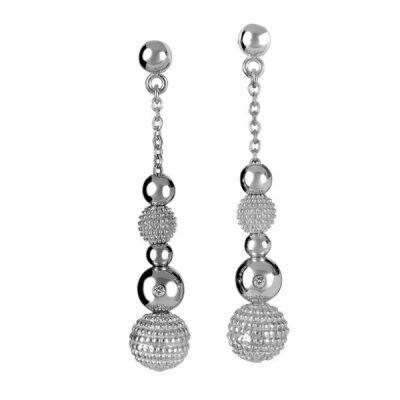 Ювелирный салон Hot Diamonds Серьги серебряные DE206 - фото 1