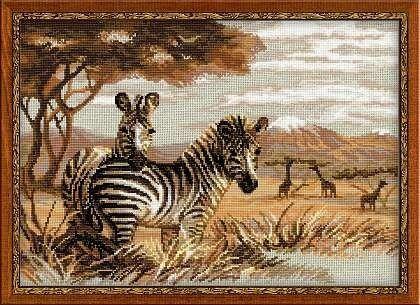 Товар для рукоделия Риолис Набор для вышивания «Зебры в саванне» - фото 1
