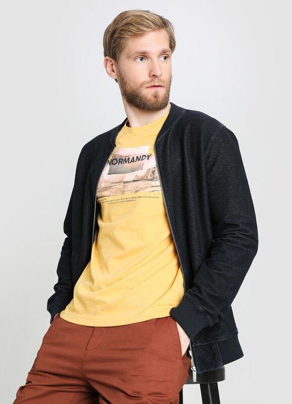 Пиджак, жакет, жилетка мужские O'stin Кроёный мужской жакет со стиркой MT1W11-D1 - фото 1
