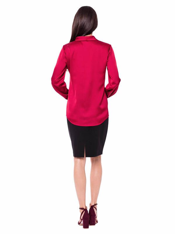 Кофта, блузка, футболка женская L'AF Блузка Evel 13CL (бордо) - фото 2